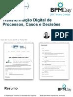 Bpmday 2017 Mato Grosso Mauricio Bitencourt Transformacao Digital Email