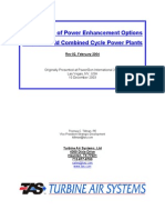Comparison of Power Enhancement Options for Greenfield Combined Cycle Power Plants