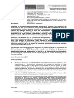 Alas Peruanas - Decisión de la Sala de Procedimientos Concursales de Indecopi