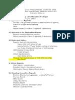 GPSA Council Minutes October 2010