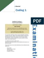 Medical Coding 1 - Exam