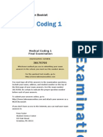 coding medical 1 final exam Medical coding: certified professional medical coder (cpc) the most recognized medical coding certifications in the final exam part 1 and final exam.