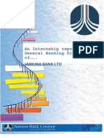 Internship report on Jamuna Bank Ltd.
