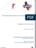 International Structural Collapse Rescue - Program of Instruction
