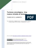 THOME-ORTIZ, HUMBERTO (2015). Turismo micológico. Una nueva mirada al bosque