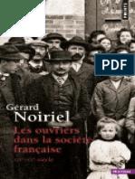 Ouvriers Dans La Societe Franca - Gerard Noiriel