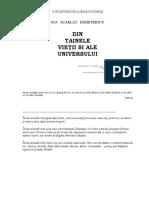 Scarlat Demetrescu-din Tainele Vietii Si Ale Universului