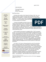 C4C's Letter To OPM Director - Mr. John Berry (April 2011)