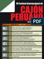 Programacion IV Festival Cajón