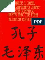 Creel Herrlee - El pensamiento chino desde Confucio hasta Mao