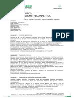 Algebra Geometria Analitica