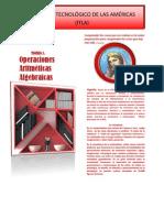 MÓDULO 1.OPERACIONES  ARITMÉTICAS ALGEBRAICAS.