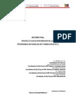 MANUAL PARA LA ELABORACIÓN DEL INFORME FINAL PROYECTO SOCIO INTEGRADOR DE LOS PROGRAMAS NACIONALES DE FORMACIÓN  (P.N.F.)