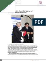 Nobel a Parisi. Ricevette la laurea ad honorem a Urbino nel 2005 - Ansa.it, 5 ottobre 2021