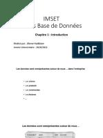 Bd _ Chapitre1 _ Introduction