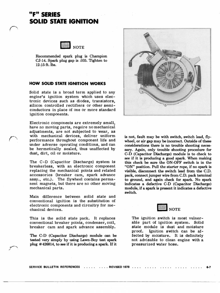 lawnboyservicemanual | Ignition System | Rectifier
