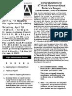 Gca April 2011 Meeting Flyer