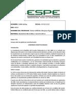 Trabajo#10-Ensayo de gobiernos constitucionales-Buñay-Edith