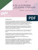 Precios Economía Social, Solidaria y Popular en septiembre de 2021