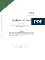 Introduction to B Physics - Matthias Neubert