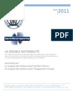 Paquet sur la Double Nationalité (Congrès des Haïtiens pour Fortifier Haïti)