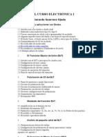APUNTES DEL CURSO ELECTRÓNICA I   Profesor  Luis Gerardo Guerrero Ojeda