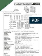 AC Voltage Transducer Kusam Meco