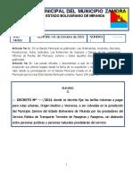 GACETA MUNICIPAL N° 020-2020 Aumento Pasaje (1)