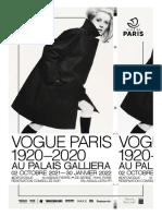 Exposition Vogue Paris 1920-2020 au Palais Galliera