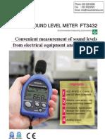 DB Meter Sound Level Meter Hioki FT3432