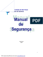 Química Experimental - Manual de Segurança - USP