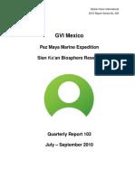 GVI Pez Maya Quarterly Report July-September 2010