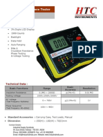 Digital HV 5KV Insulation Tester HTC 6250IN
