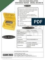 Digital HV Insulation Tester 10KV KM 2804 In