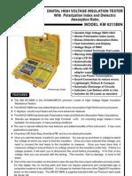 Digital HV Insulation Tester Kusam Meco KM 6213B In