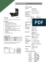 Digital Temperature PID Controller Selectron TC518 TC523 Datasheet)