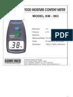 Digital Wood Moisture Meter KM 963