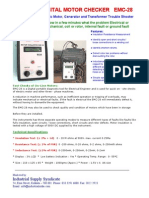 EMC 28 Digital Electric Motor Checker Catalogue