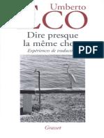 Dire Presque La Même Chose Expériences de Traduction by Umberto Eco (Z-lib.org).Epub