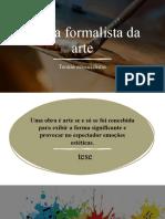 apresentação teoria formalista da arte