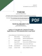 Analyse Et Conception Des Antennes Fractales