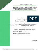 Ofppt Royaume Du Maroc Module n _20 Secteur _ Reparation Des Engins a Moteur Specialite _ Deea Niveau _ Technicien Specialise Fev 2004