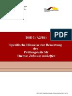 DSD I SK Spezifische Hinweise Zuhause Mithelfen