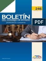 Boletín del Consejo de Estado - Jurisprudencia y conceptos - 246