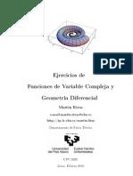 problemas de geometria diferencial y variable compleja