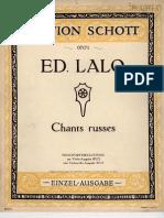 Lalo - Chants Russes Op29 (lento de concerto) for cello and piano