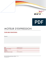 Liste des fonctions du moteur d'expression