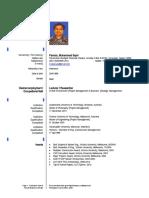 Muhammad Sapri Pamulu, Ph.D. - Resume/CV