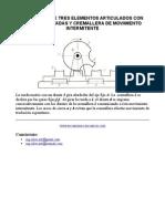 Mecanismo de Tres Elementos Articulados Con Ruedas Dentadas y Cremallera de Movimiento Intermitente