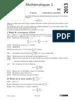 Centrale Supelec Pc 2013 Maths 1 Epreuve
